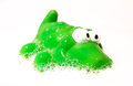Crocodile children bath toy Stock Photo
