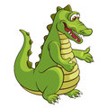 Crocodile cute cartoon vector illustration Stock Photo