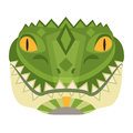 Crocodile Head Logo. Alligator vector decorative Emblem.