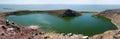 Crocodile lake on Central island on Lake Turkana, Kenya. Royalty Free Stock Photo
