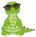 Crocodile in sunglasses Royalty Free Stock Photo