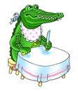 Crocodile teeth reptile cartoon humor Royalty Free Stock Photo
