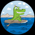 Crocodile the traveller Stock Image