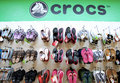 Crocs shop Royalty Free Stock Photography