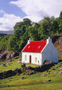 Croft cottage torridon scotland this quaint lochside house sits beside loch shieldaig in the scottish highlands in the area of Royalty Free Stock Image