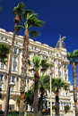Croisette promenade in Cannes Royalty Free Stock Photography