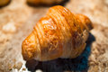 Croissant bakery palatable in close up Stock Photography