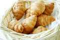 Croissant in basket Royalty Free Stock Photography