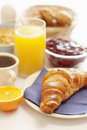 Croissant,coffee and juice Stock Photo