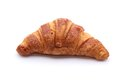Croissant fresh casting soft whadow on white delicious Stock Image
