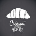 Croissant icon design over gray background vector illustration Stock Photo
