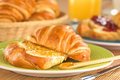 Croissant with Orange Jam Royalty Free Stock Photos