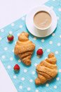 Croissant traditional viennoiserie pastry dessert Royalty Free Stock Photo
