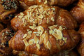 Croissants with Almonds Royalty Free Stock Images