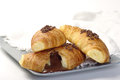 Croissants with chocolate Royalty Free Stock Photography