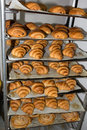 Croissants - french pastries fresh from the oven Royalty Free Stock Photo