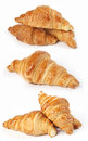 Croissants group isolated on white background Royalty Free Stock Image
