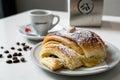 Croissany croissant brakfast croissant with coffe Stock Photo