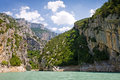 Croix lake st les gorges du verdon in provence france Royalty Free Stock Images