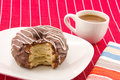 Cronut and coffee half donut half croissant pastry Royalty Free Stock Photo