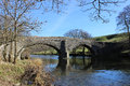 Crook of lune bridge near beckfoot cumbria narrow called on the minor road over the river and lowgill in england Royalty Free Stock Photography