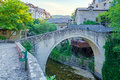 The crooked bridge in mostar old city of bosnia and herzegovina Stock Photography