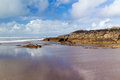 Crooklets beach bude cornwall sandy england uk Royalty Free Stock Images