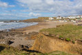 Crooklets beach Bude North Cornwall England UK a short walk from the Cornish town Royalty Free Stock Photo
