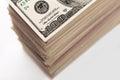 Crop of dollar banknotes Royalty Free Stock Photo