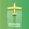 Crop duster plane vector illustration Royalty Free Stock Photo