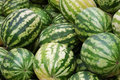 Crop of water-melons Royalty Free Stock Photo