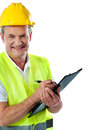 Cropped image of an aged architect Stock Image
