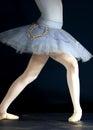 Cropped image ballerina performing balancing act Stock Photos