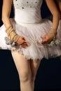 Cropped image ballerina performing balancing act Royalty Free Stock Photos