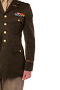 Cropped image of military officer young man in uniform Royalty Free Stock Photo