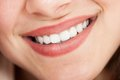 Cropped image of woman smiling young beautiful Stock Image
