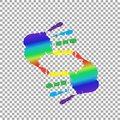 cropping symbol made of rainbow hands  and copy space Royalty Free Stock Photo