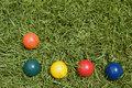 Croquet balls Stock Images