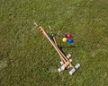 Croquet Set Royalty Free Stock Photo