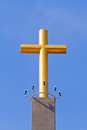 Cross against the sky Royalty Free Stock Image