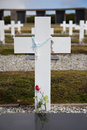 Cross at argentine cemetery falkland islands white darwin Stock Photography