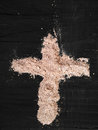 Cross of ashes symbol ash wednesday Stock Images
