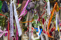 Cross bones graveyard in london the decorated gates of the site is a post medieval burial ground the borough of Stock Images