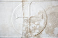 Cross carved in white marble Royalty Free Stock Photo