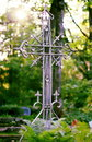 Cross on a cemetery Stock Photography
