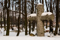 Cross on the cemetery old in olkusz poland Stock Photography