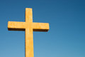 Cross a christian against the background of perfectly blue sky Royalty Free Stock Photography