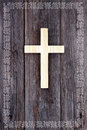 Cross christian wooden background celtic border Royalty Free Stock Photo