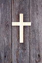 Cross christian wooden wall old church Royalty Free Stock Photo