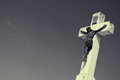 The cross christianity and sky background Royalty Free Stock Photo